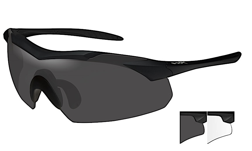 4f34a6a1d6da Wiley-X WX VaporPolarized Lenses - Smoke Grey,Clear Wiley X