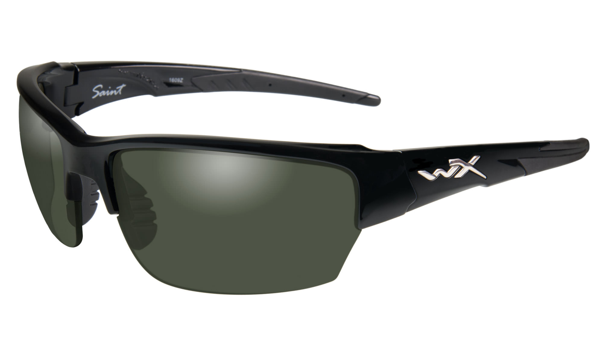 bb12ad69bee1 Wiley-X WX Saint Gloss Black with Polarized Smoke Green Lenses | Wiley X