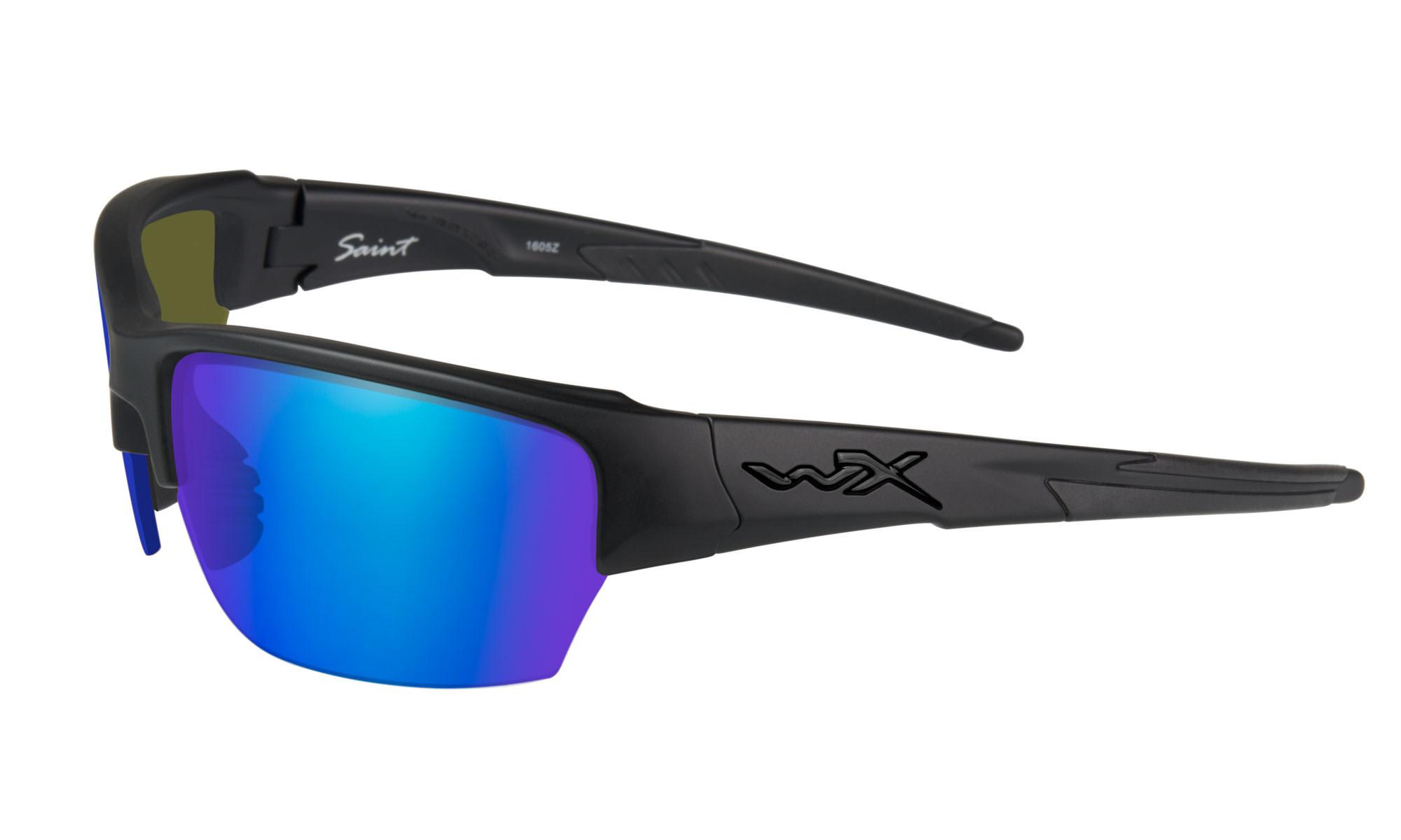 86bc66ad553ca Wiley-X WX Saint Matte Black with Polarized Blue Mirror Lenses