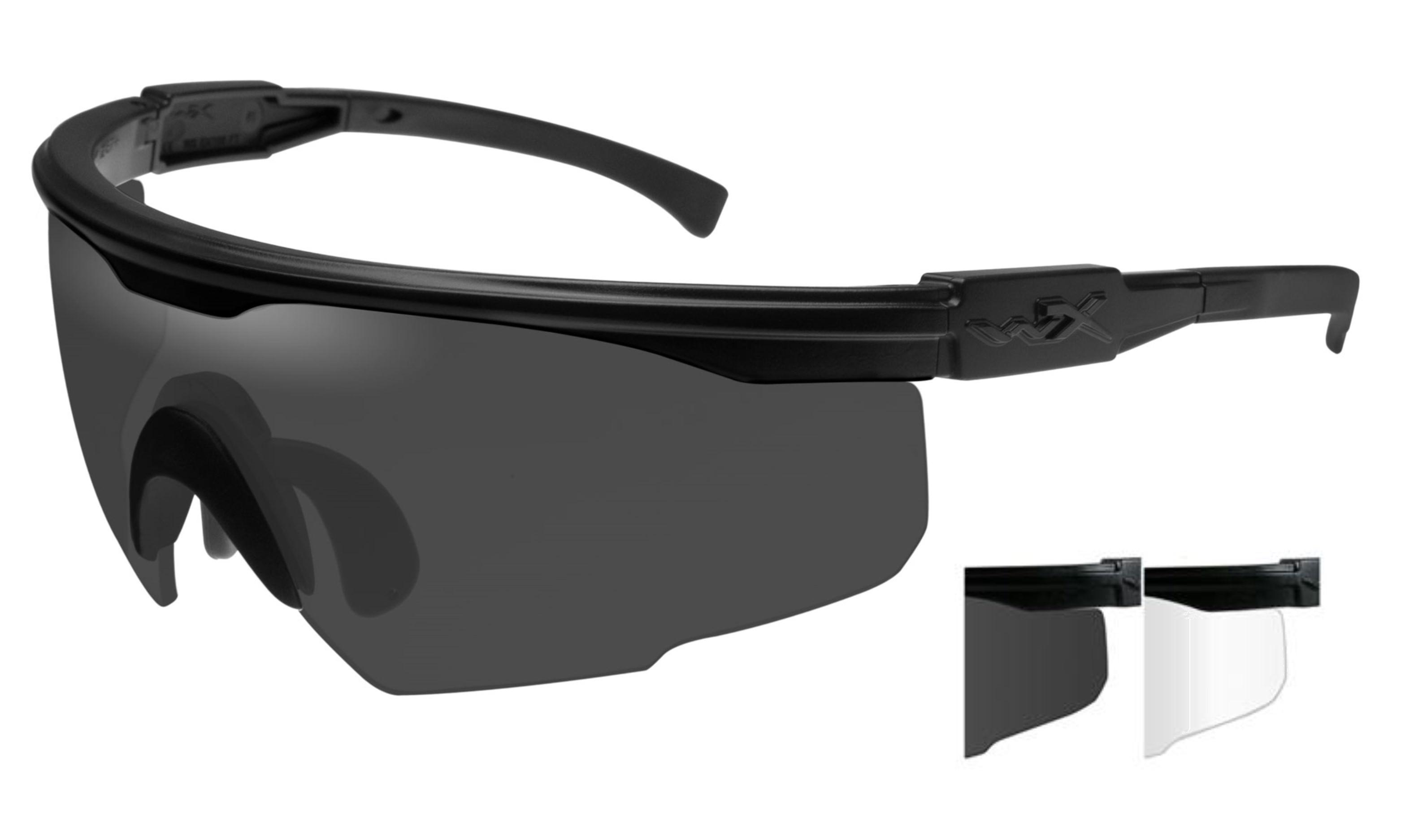 3f5941fea770 Wiley-X PT-1Polarized Lenses - Smoke Grey,Clear Wiley X