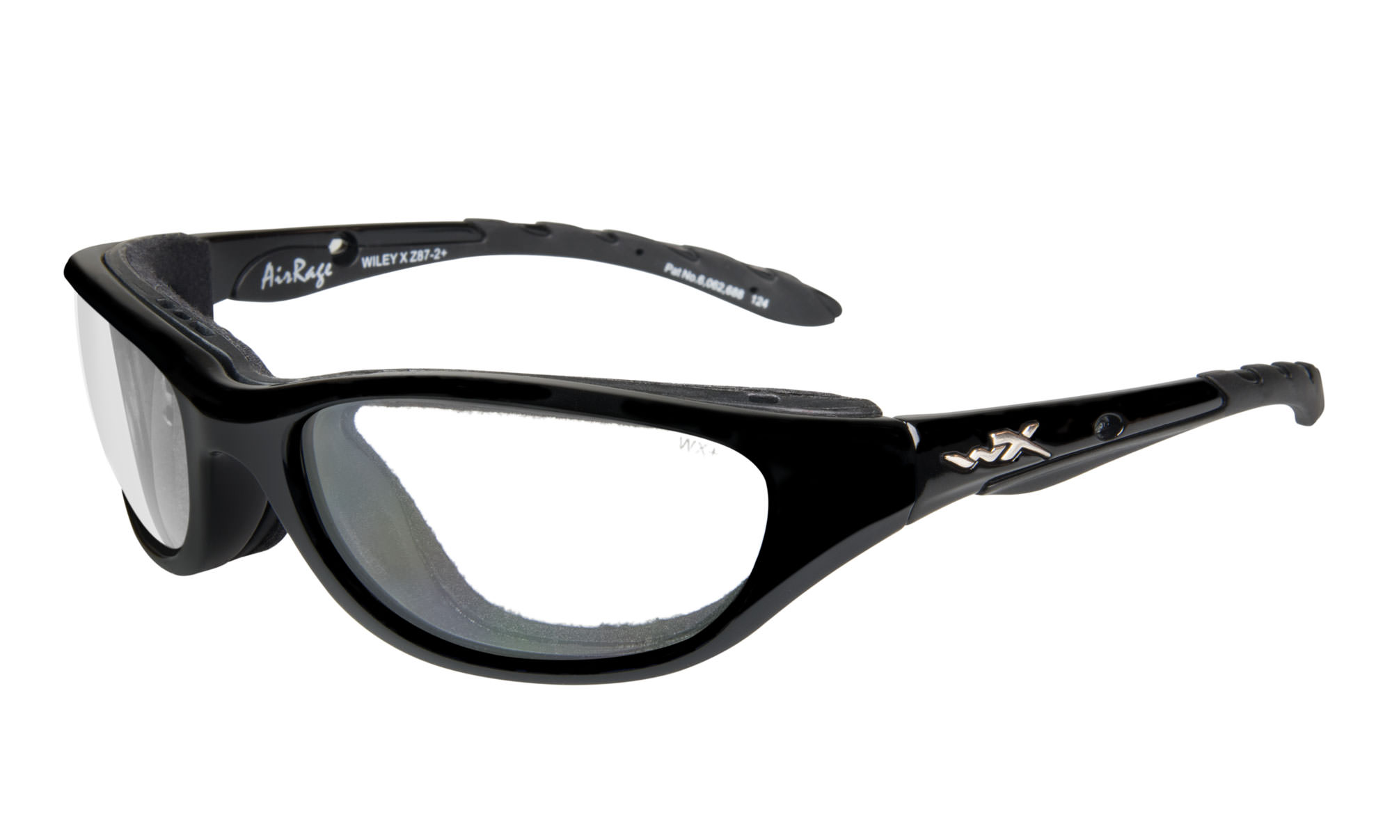 5171b3c34c98 Wiley-X Airrage Gloss Black with Clear Lenses | Wiley X