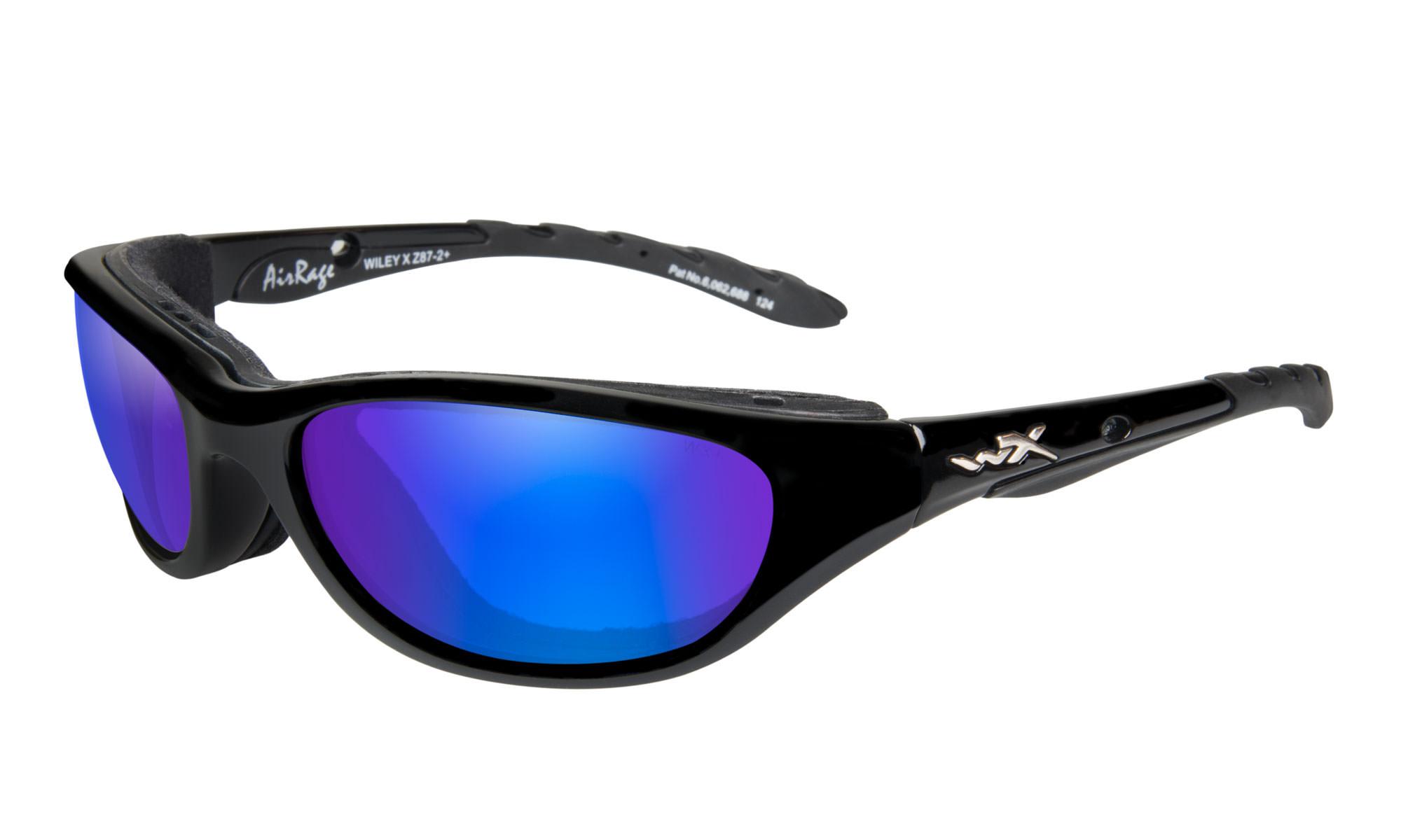 857ac64e52e1 Wiley-X Airrage Gloss Black with Polarized Blue Mirror Lenses