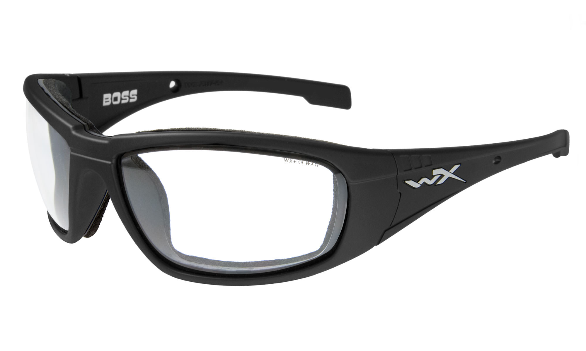 1c0785f5703c3 Wiley-X WX Boss Matte Black with Clear Lenses