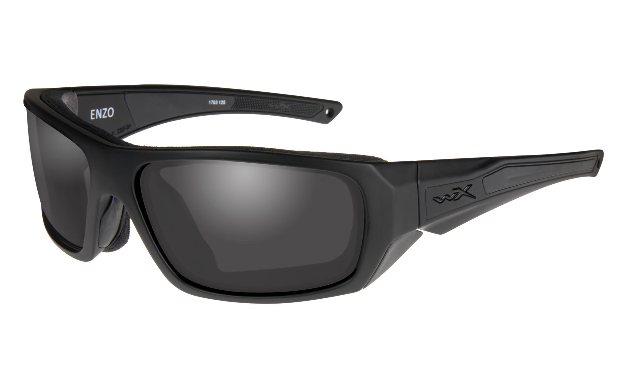 f1f0d8b74772 Wiley-X WX Enzo Matte Black with Smoke Grey Lenses | Wiley X