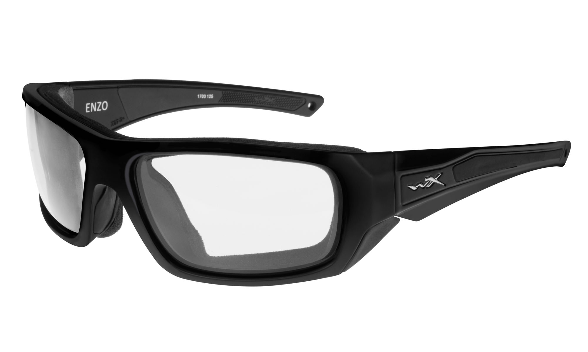 47859d84d3f0 Wiley-X WX Enzo Matte Black with Clear Lenses | Wiley X