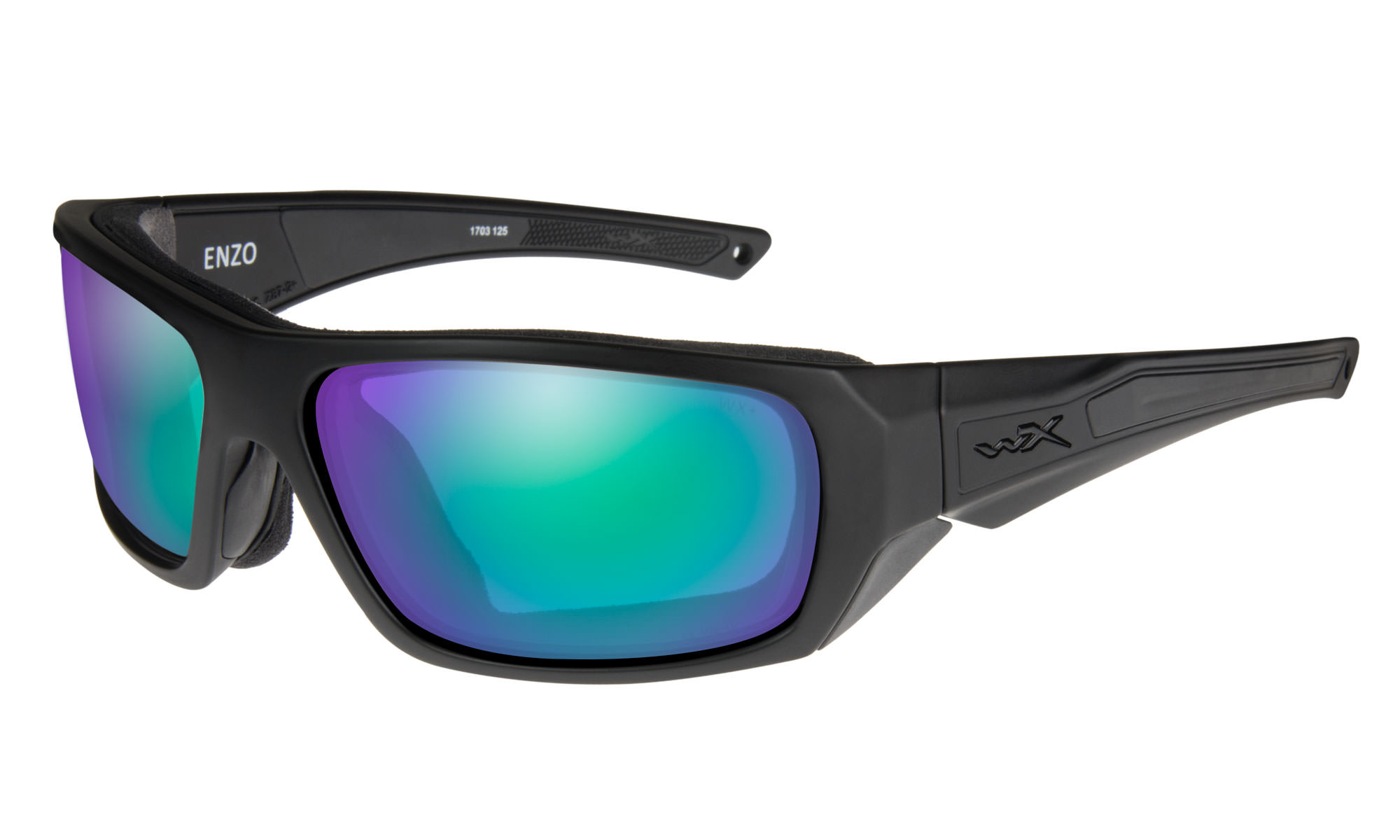 2c2e67d6b8ed Wiley-X WX Enzo Matte Black with Polarized Emerald Mirror Lenses ...