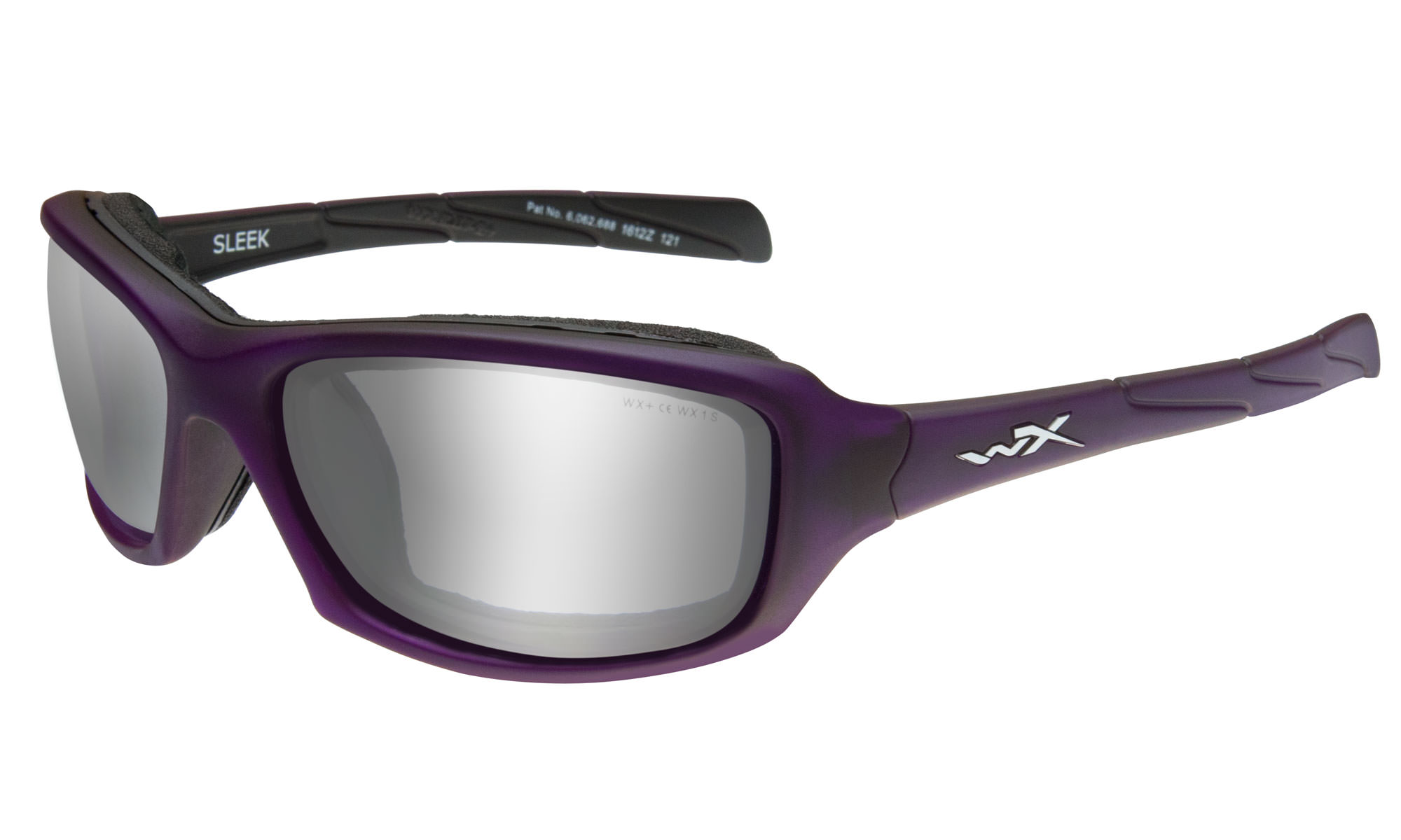 f0c0b94a2c Wiley-X WX Sleek Matte Violet with Silver Flash Lenses