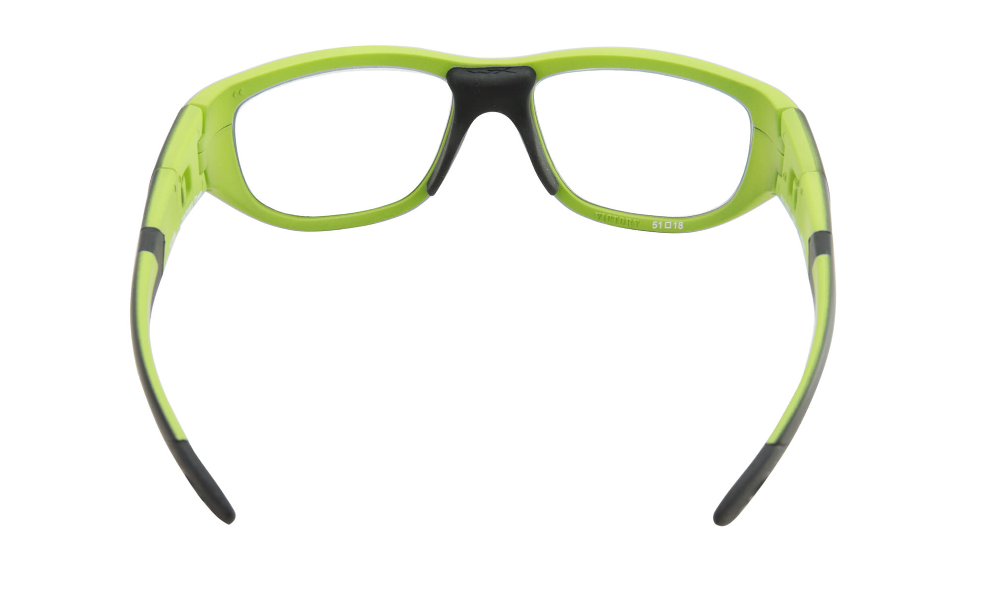 fe930eab3b185 Wiley-X WX Victory Matte Black with Lime Green with Clear Lenses ...