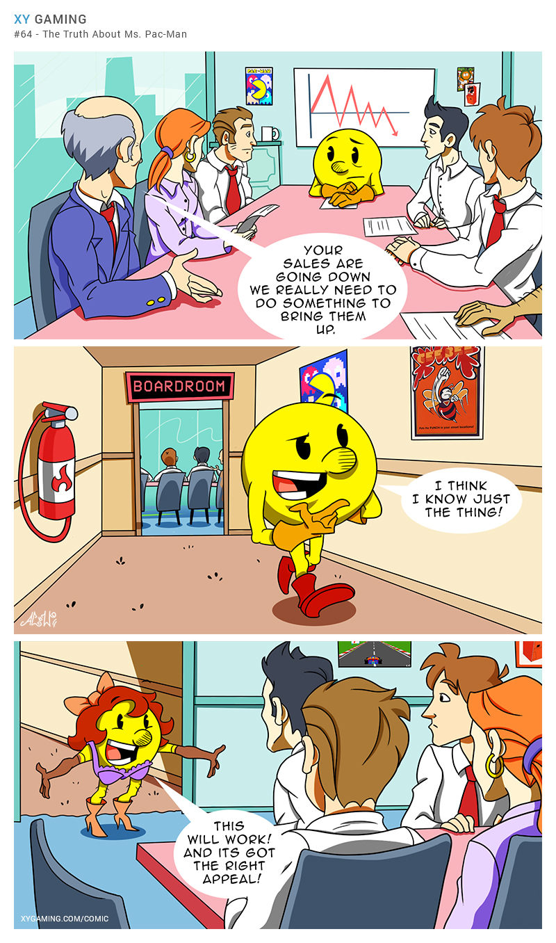 XY Gaming - Ms Pacman - Funny Weekly Gaming Comic