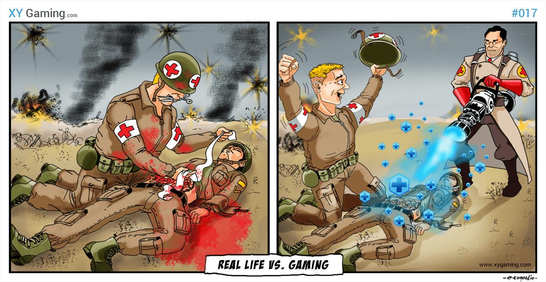 Real Life Vs Gaming - Medic