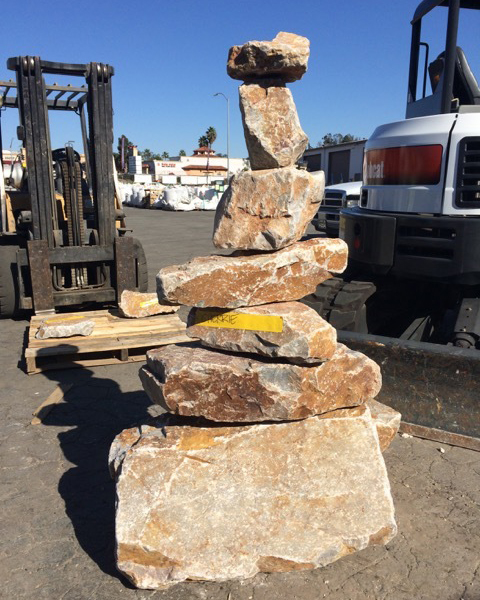 Stacked stone pieces for mosaic rock art