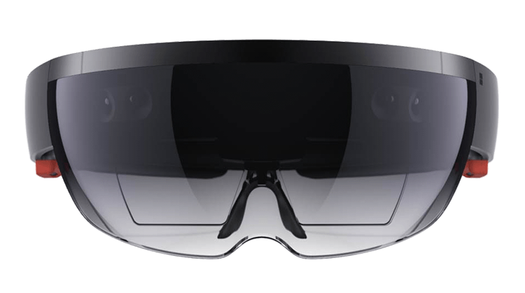 A picture of Microsoft's groundbreaking HoloLens AR (Alternate Reality) glasses