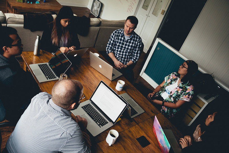 Yeti employees meeting