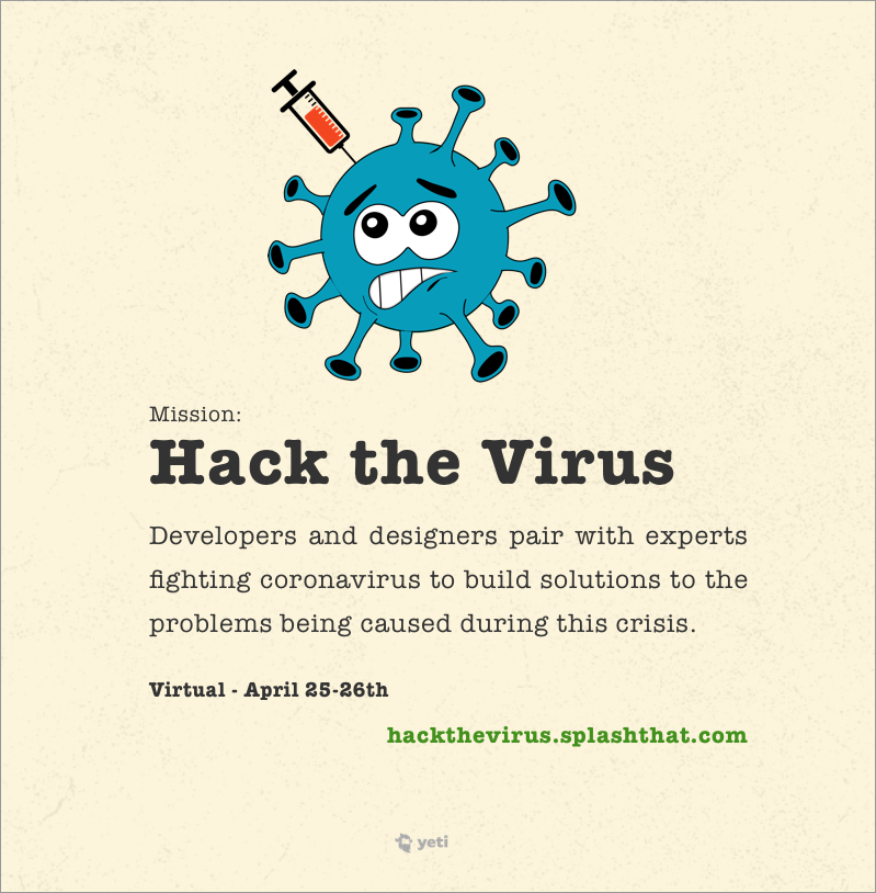 hack the virus flyer