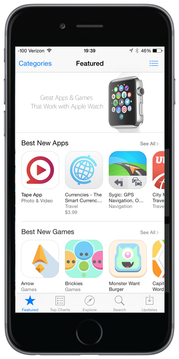 Tape App being featured as a Best New App in the App Store.
