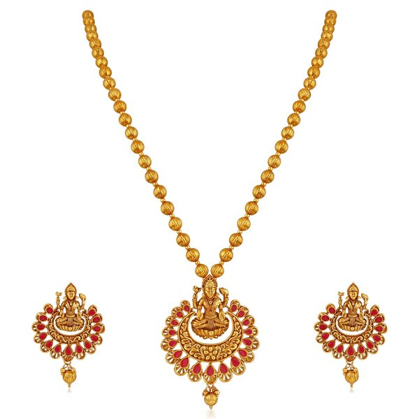 Laxmi Temple Jewellery Necklace Set for Women