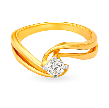 Women Gold With Diamond Ring