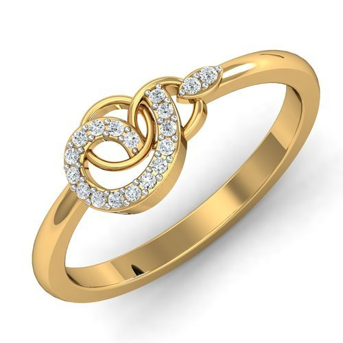 18 Kt Gold & Diamond Finger Ring