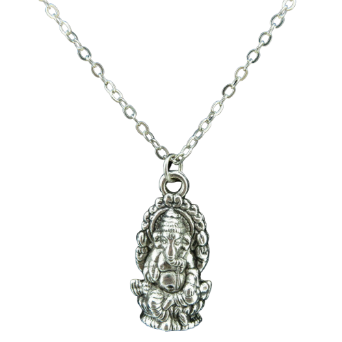 Silver Chain with Ganesha Pendant