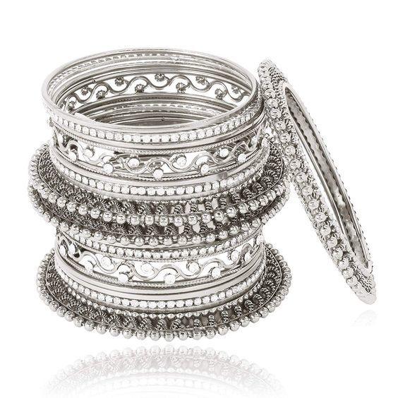 Traditional silver Bangle Set