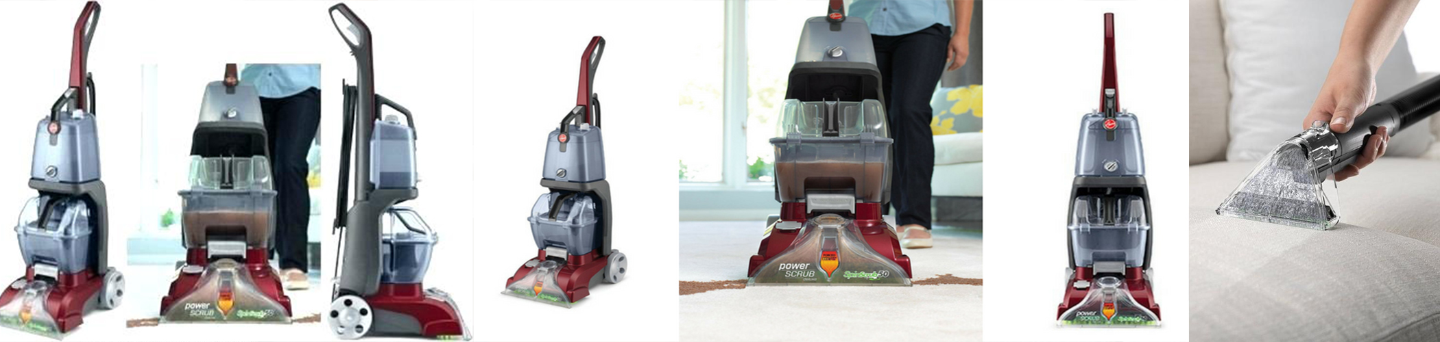 Hoover FH50150 Carpet Basics Power Scrub Deluxe Carpet Vacuum Cleaner