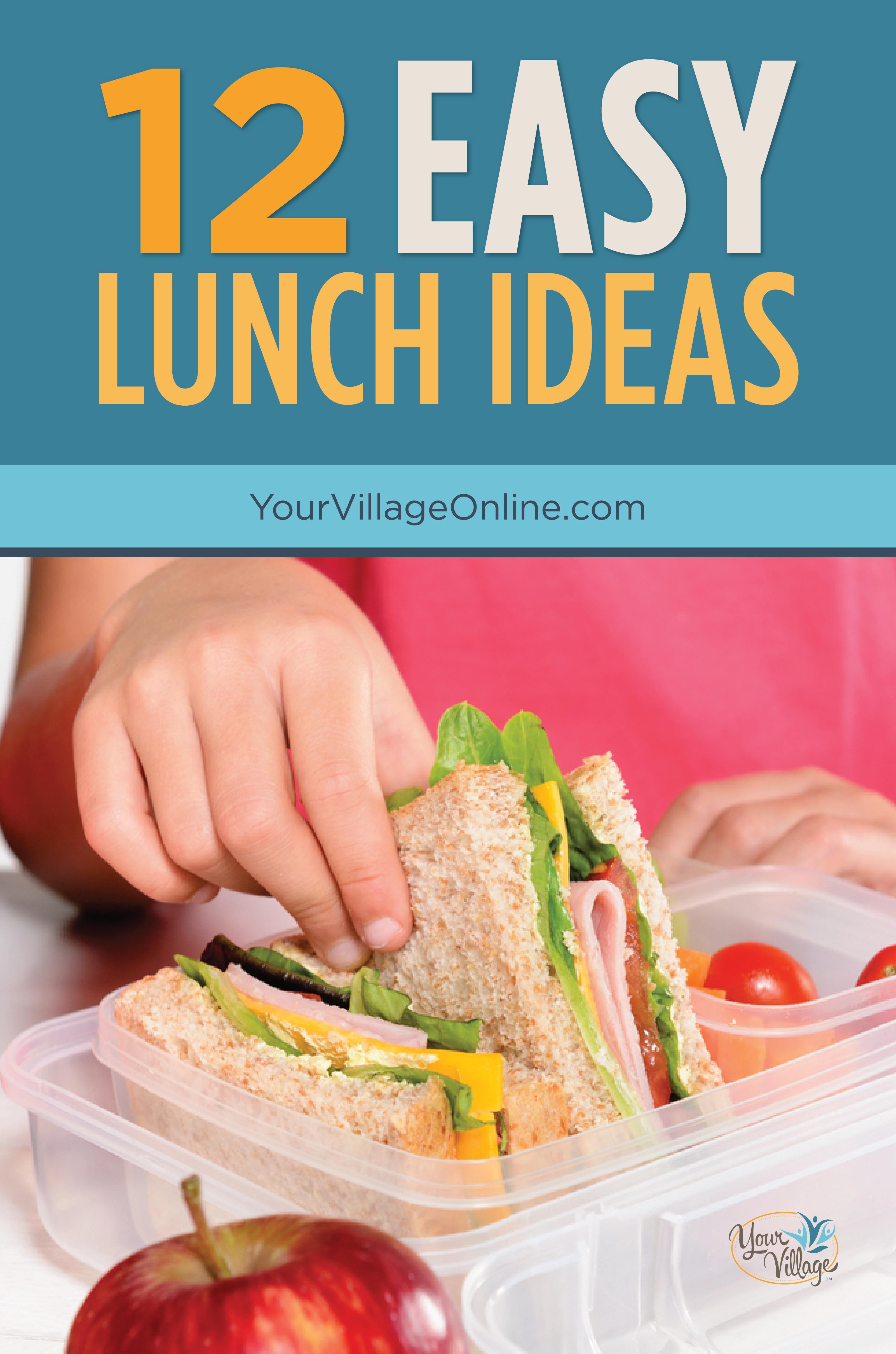 12 Easy Healthy Lunch Ideas