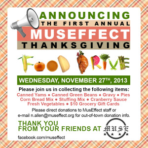 MusEffect Food Drive 2013