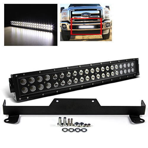 For 11 15 f250f350f450 215 120w cree led light barbumper for 11 15 f250f350f450 215 120w cree led light barbumper mounting bracket mozeypictures Image collections