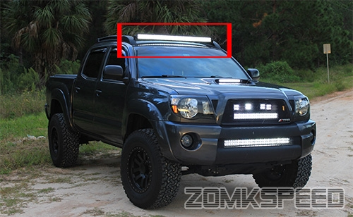 05 15 Toyota Tacoma 40 Quot Curved Led Light Bar Factory Roof