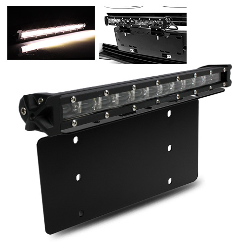 Front bumper license plate mount bracket13 60w cree led offroad front bumper license plate mount bracket13 60w cree led offroad slim light bar mozeypictures Images