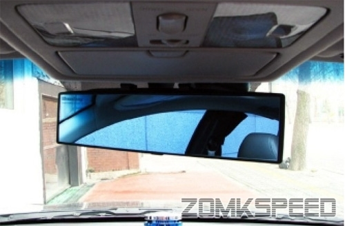 300mm JDM Panoramic Wide-Angle Convex Curved Rear View Mirror Blue Tinted Lens | eBay