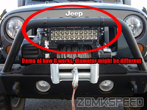 2pc 1625 bull barroll cage led light bar tube mount clamps atv 2pc 1 625 034 bull bar roll cage mozeypictures Images