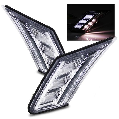 For 13-15 Subaru BRZ/Scion FRS/GT86 Crystal Clear LED Bumper Side ...