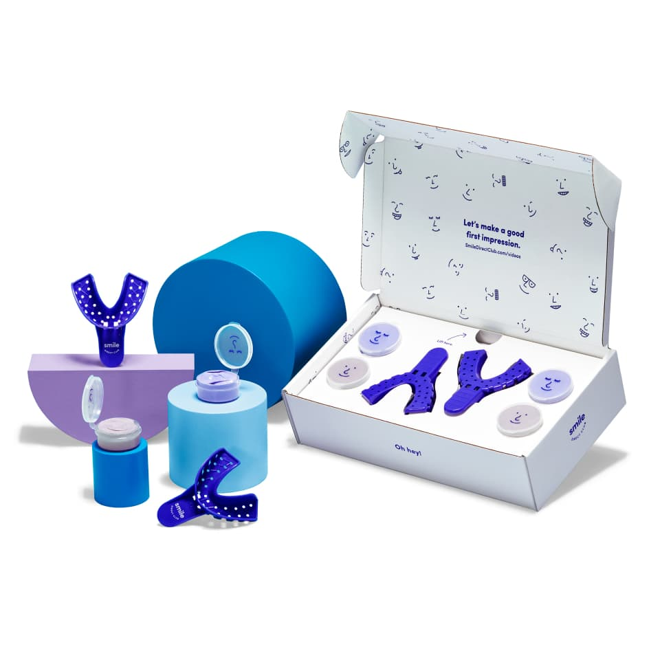 open impression kit box displaying its contents